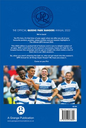 Official Queens Park Rangers Annual 2022 BACK