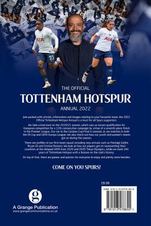 Official Tottenham Hotspur Annual 2022 back