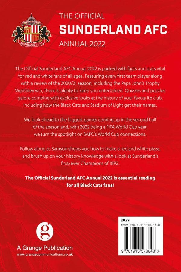 Official Sunderland AFC Annual 2022 back