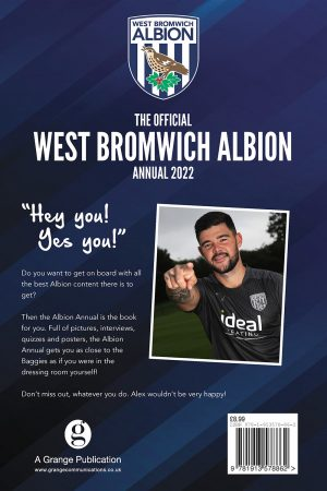 Official West Bromwich Albion Annual 2022 back
