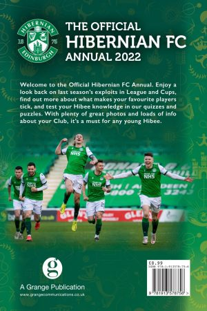Official Hibernian FC Annual 2022 back